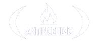 Logo iconografico della certificazione Antincendio versione bianca